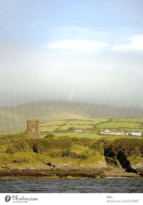 World in my Eyes Ferien & Urlaub & Reisen Natur Landschaft Luft Wasser Himmel Wolken Schönes Wetter Nebel Gras Sträucher Hügel Felsen Küste Meer Republik Irland