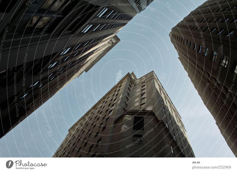 New York Wolkenloser Himmel Schönes Wetter New York City Stadtzentrum Haus Hochhaus Fassade Fenster Ferien & Urlaub & Reisen leuchten Wachstum Häusliches Leben