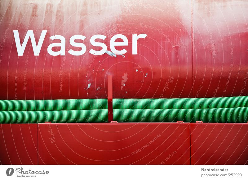 Brandherd Wasser rot Metall Wasserfahrzeug Arbeit & Erwerbstätigkeit Verkehr Trinkwasser Schriftzeichen Hilfsbereitschaft Macht Technik & Technologie