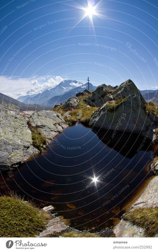 Mt. Lake Himmel Natur Wasser blau Ferien & Urlaub & Reisen Sommer kalt Freiheit Berge u. Gebirge Landschaft See Wetter Erde Felsen hoch wandern