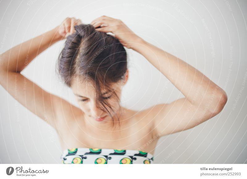 good morning Frau Mensch Jugendliche schön ruhig feminin Erwachsene Haare & Frisuren 18-30 Jahre schwarzhaarig Selbstbeherrschung gewissenhaft