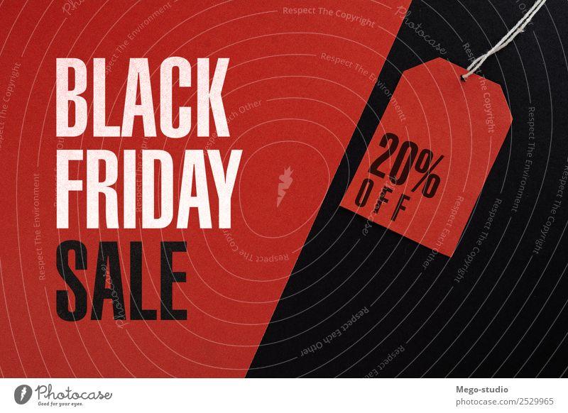 Schwarzes Freitagskonzept kaufen Stil Design Business Mode Papier verkaufen außergewöhnlich rot schwarz Werbung Sale kennzeichnen Zeichen Rabatt Markt Angebot
