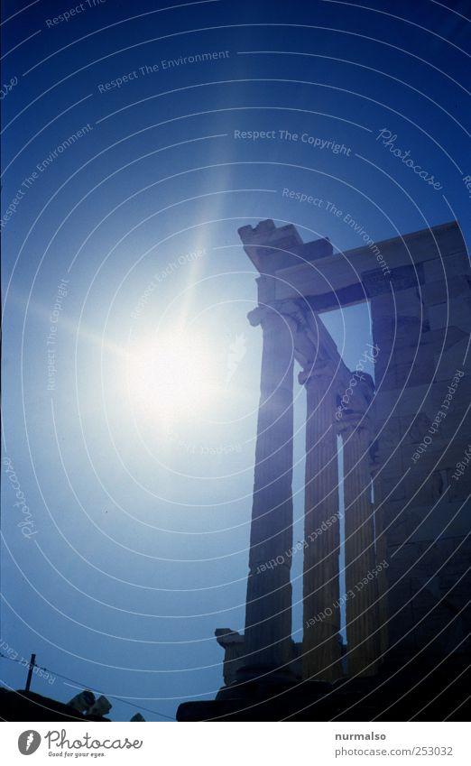 Griechischer Stern Ferien & Urlaub & Reisen Tourismus Ausflug Ferne Städtereise Sonne Sommer Athen Hauptstadt Bauwerk Sehenswürdigkeit Wahrzeichen Denkmal