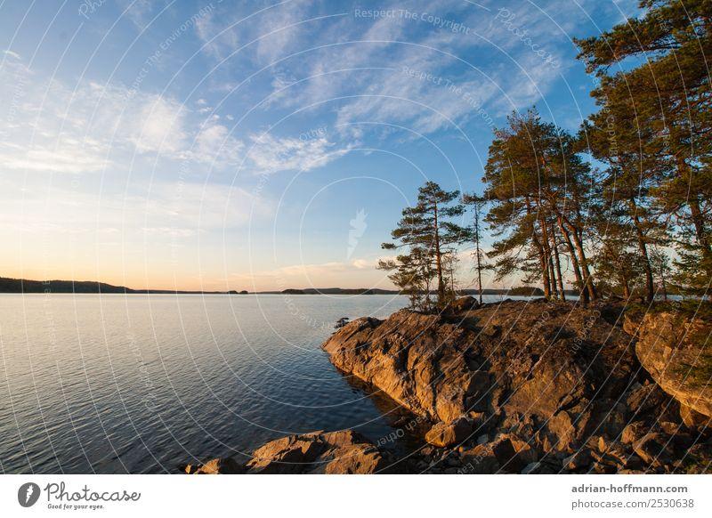 Sjö Himmel Natur Ferien & Urlaub & Reisen Sommer blau Wasser grün Landschaft Baum Wolken Ferne Umwelt natürlich Tourismus Freiheit See