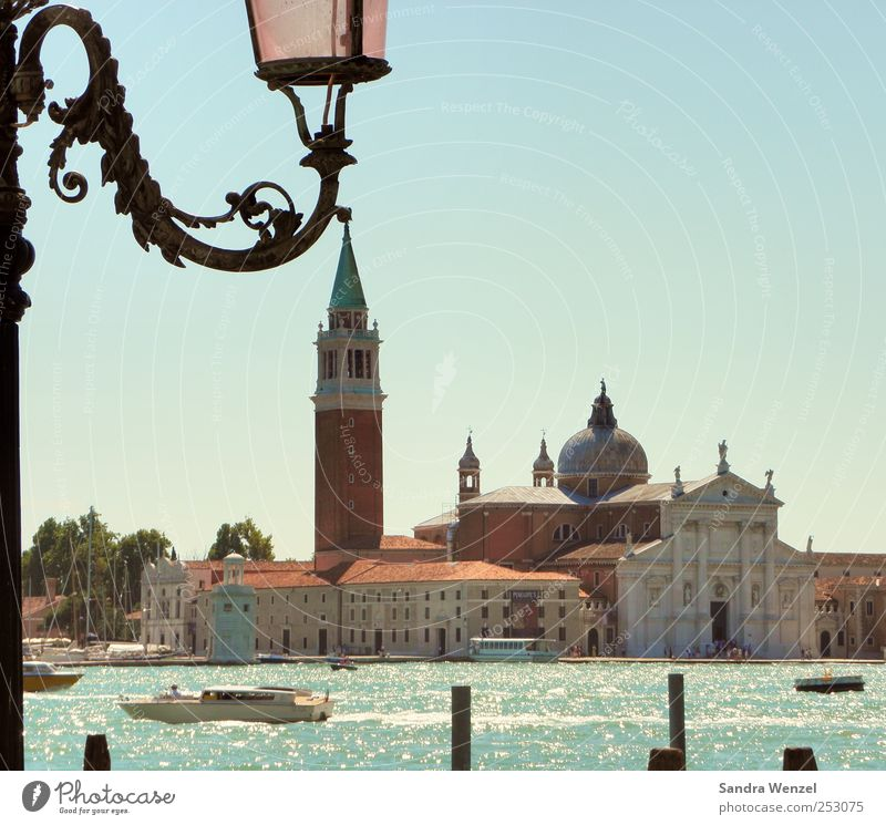 San Giorgio Maggiore Ferien & Urlaub & Reisen Tourismus Ausflug Sightseeing Städtereise Kultur Wasser Klimawandel Venedig Italien Europa Hafenstadt Stadtzentrum