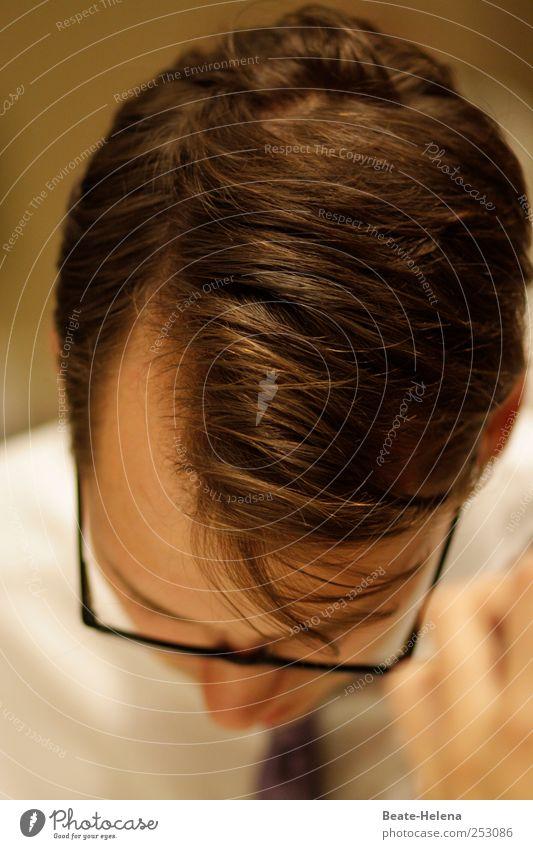 Wo Ideen reifen Mensch Jugendliche Erwachsene Kopf Haare & Frisuren Stil Denken Arbeit & Erwerbstätigkeit Zufriedenheit maskulin außergewöhnlich Erfolg lernen