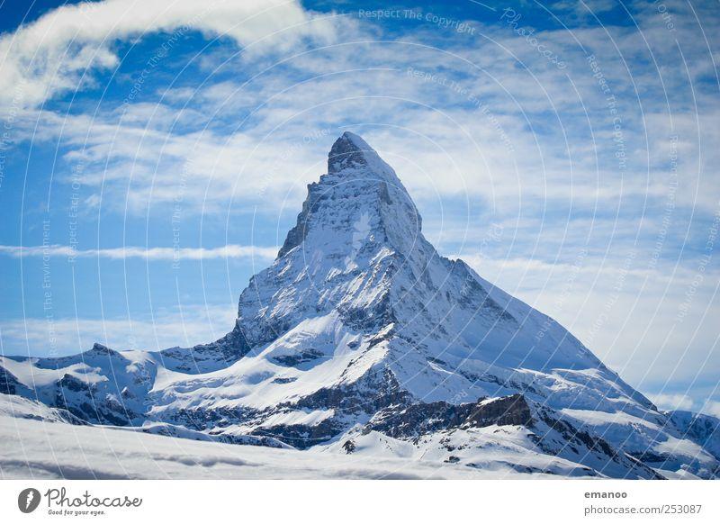 A wie Alpengipfel Himmel Natur Ferien & Urlaub & Reisen Landschaft Winter Berge u. Gebirge Schnee Freiheit Felsen Tourismus Eis wandern hoch Ausflug Spitze
