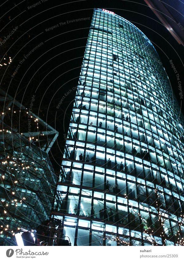 potsdamer platz Potsdamer Platz Sony Center Berlin Nacht Fenster Architektur Eisenbahn