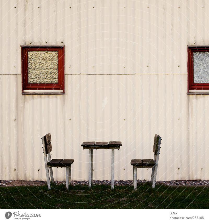 time to relax grün rot Haus Wand Herbst Architektur grau Gras Mauer braun Deutschland warten Fassade Ausflug Design Tourismus