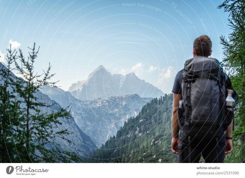 Berge Zufriedenheit Erholung ruhig Meditation Ferien & Urlaub & Reisen Ausflug Abenteuer Ferne Expedition Camping Sommerurlaub Berge u. Gebirge wandern maskulin