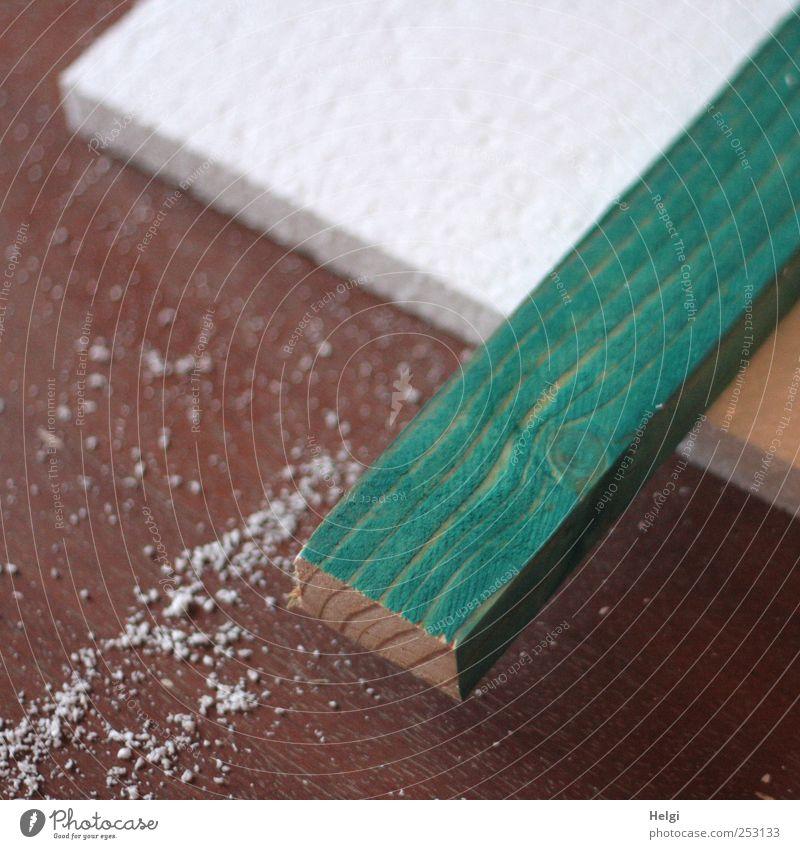 Arbeitsvorbereitung... grün weiß Holz braun Arbeit & Erwerbstätigkeit liegen Ordnung Beginn authentisch ästhetisch Häusliches Leben Wandel & Veränderung