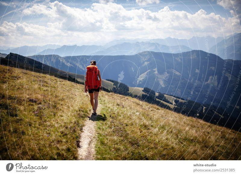 Wanderpfad Ferien & Urlaub & Reisen Sommer Erholung ruhig Ferne Berge u. Gebirge Gesundheit Wege & Pfade Tourismus Freiheit Ausflug Zufriedenheit wandern