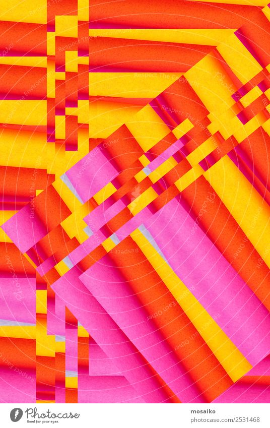 Mustermix - buntes Design Lifestyle Glück Dekoration & Verzierung Tapete Hochzeit Bildung Kunst Kunstwerk Papier Liebe Kitsch verrückt gelb orange rosa Euphorie