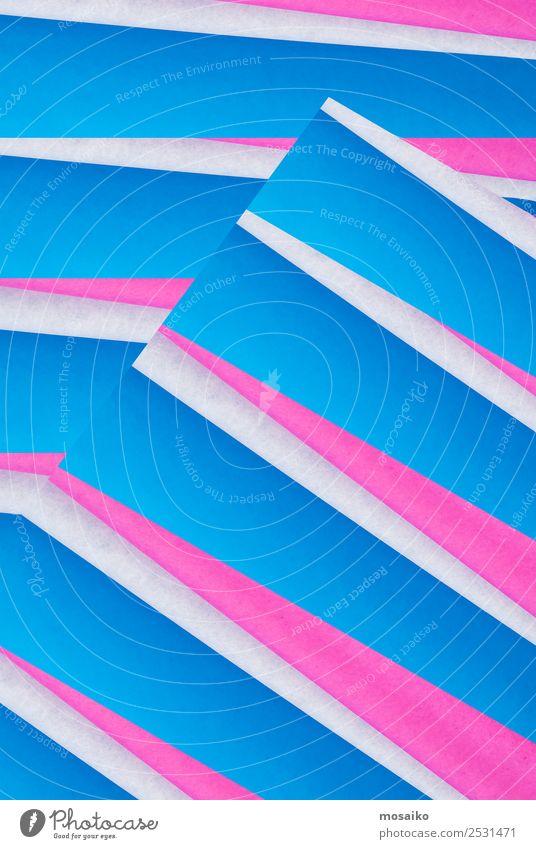 Mustermix - blaues und rosa Design Lifestyle elegant Stil Dekoration & Verzierung Tapete Feste & Feiern Karneval Oktoberfest Kunst Kunstwerk Papier weiß