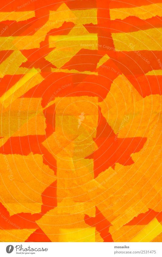 Farbe Lifestyle gelb lustig Stil Kunst Party orange Design Dekoration & Verzierung modern Fröhlichkeit verrückt fantastisch Papier Postkarte