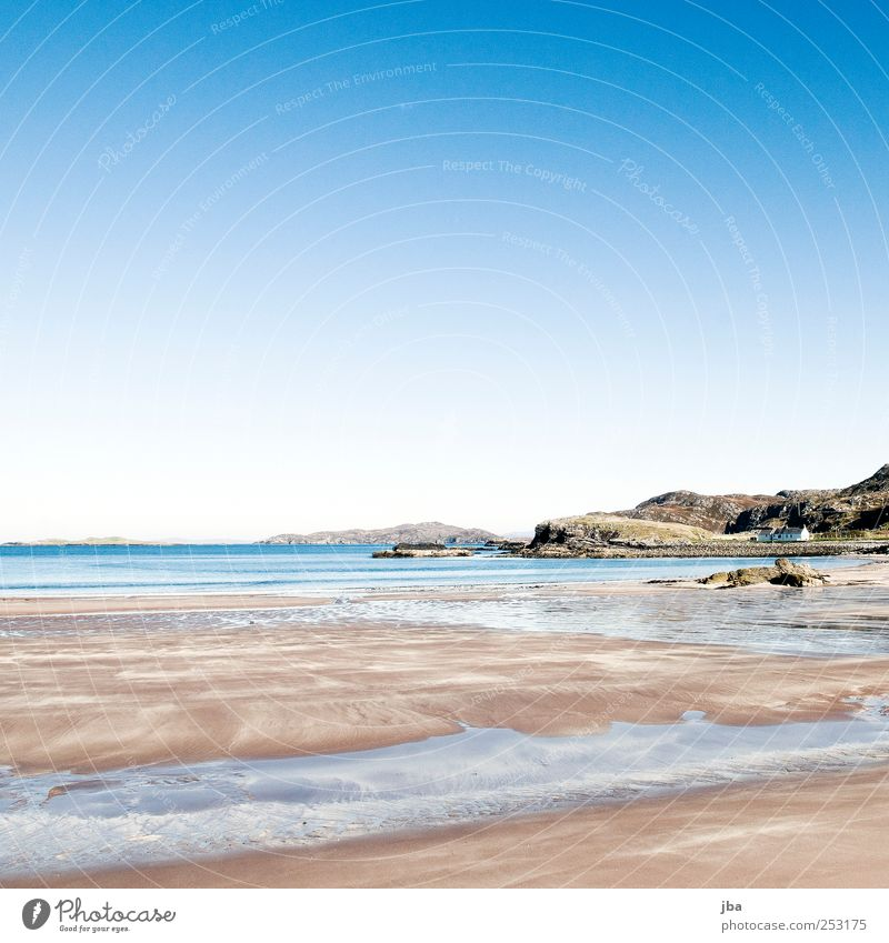 Nordwesten Schottlands {N10} Natur Wasser blau weiß Sonne Sommer Strand Meer ruhig Ferne Herbst Freiheit Sand Luft Stein Küste