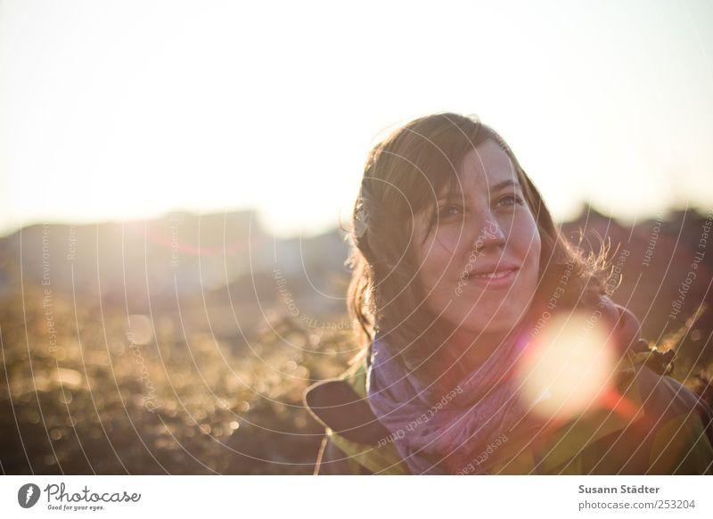 B@DD 11 | träume Sonne feminin Kopf Glück Zufriedenheit Wind Kraft Stoff Hoffnung Vertrauen Jacke Lächeln brünett Duft Glaube Willensstärke