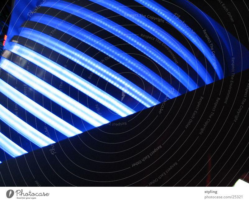 Blaue Lichtstangen blau Lampe dunkel Technik & Technologie hell-blau Elektrisches Gerät