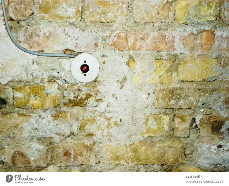Lichtschalter Häusliches Leben Wohnung Hausbau Renovieren Raum Kabel Technik & Technologie Wissenschaften Energiewirtschaft Energiekrise Bauwerk Gebäude Mauer