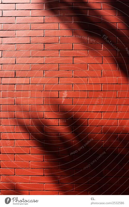 rote mauer Haus Architektur Wand Gebäude Mauer Stein Fassade ästhetisch Schönes Wetter Baustelle Schutz Sicherheit Barriere Backstein Handwerk