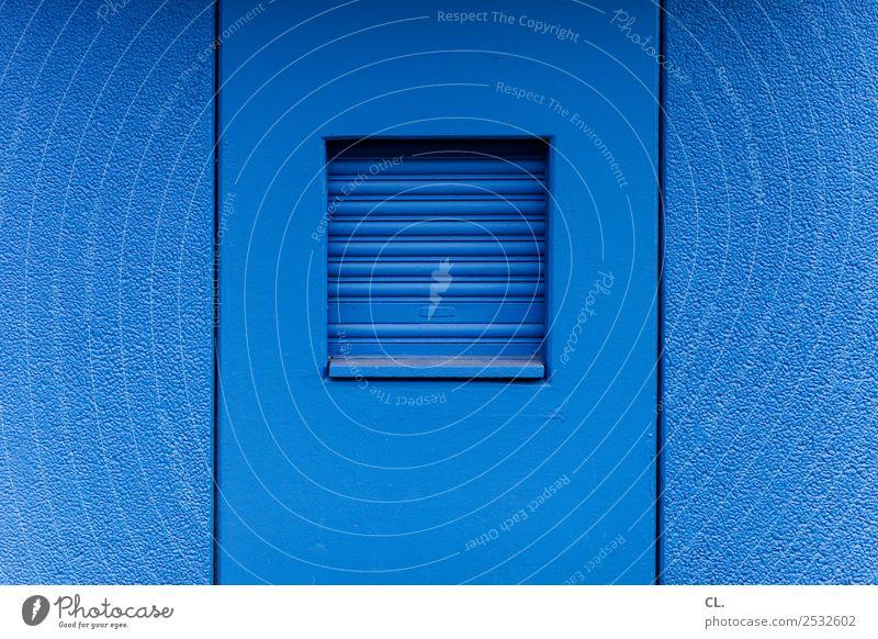 mach mal blau Arbeit & Erwerbstätigkeit Arbeitsplatz Feierabend Haus Mauer Wand Fenster Rollo außergewöhnlich lustig Trägheit bequem Business einzigartig Ende