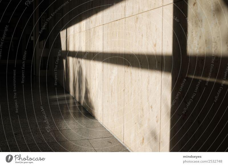 Schatten im Treppenhaus Innenarchitektur Haus Gebäude Mauer Wand entdecken leuchten ästhetisch Neugier Design modern Perspektive Ferne Schattenspiel