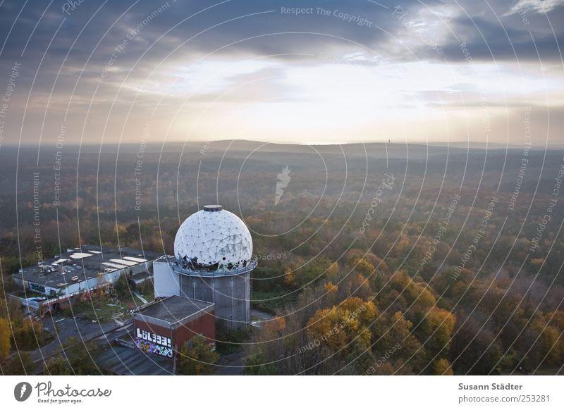 neverending. Natur Wolken Wald Herbst Berlin Architektur gehen Nebel ästhetisch Kugel Schönes Wetter Unbewohnt abgelegen herbstlich Herbstfärbung