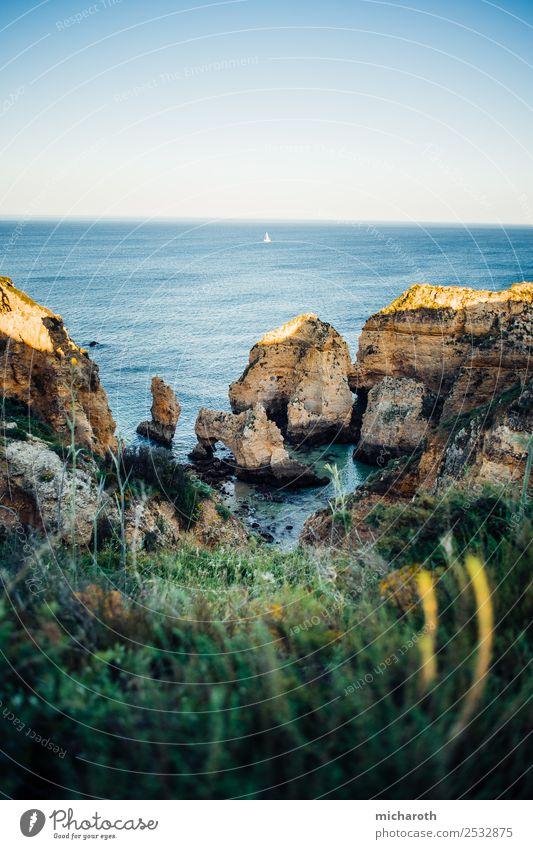 Algarve Cliffs in the Evening light Ferien & Urlaub & Reisen Ausflug Ferne Freiheit Sommer Meer Insel Wassersport Natur Landschaft Pflanze Schönes Wetter