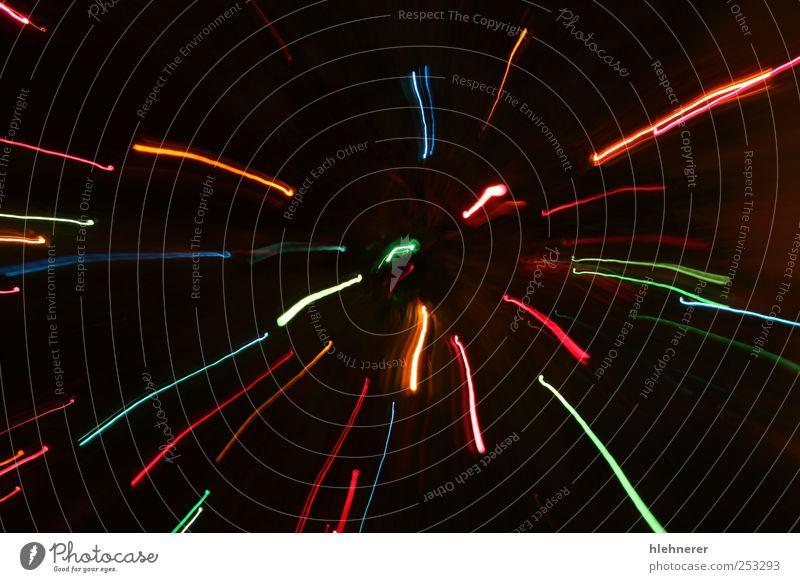 Abstrakte Bewegungslichter Freude Dekoration & Verzierung Feste & Feiern glänzend hell neu Geschwindigkeit blau gelb gold rot Farbe Wunsch Hintergrundbild