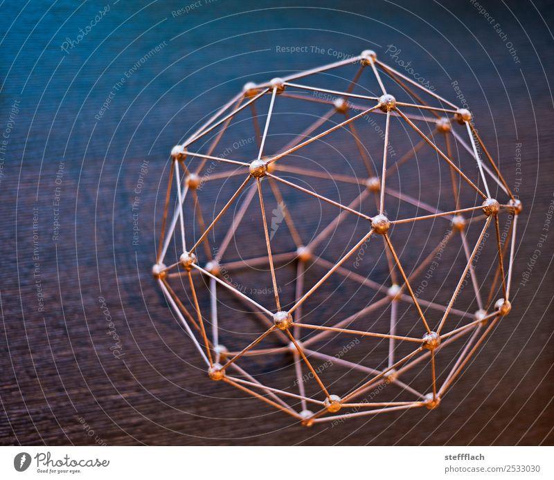 Low Poly Fußball blau Stil braun orange rosa Design Zufriedenheit Linie Metall elegant ästhetisch Zusammenhalt Netzwerk Internet harmonisch Ball