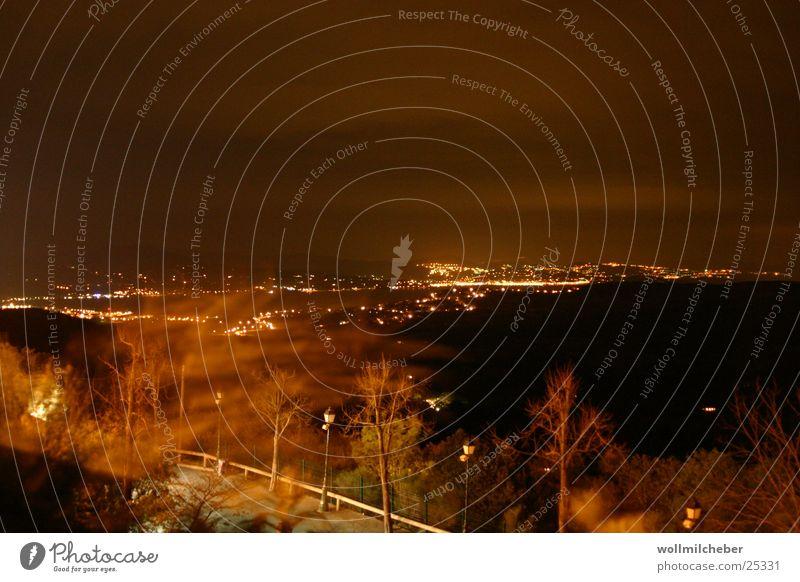 Golf von St. Tropez Meer Nacht Langzeitbelichtung Europa St. Tropez. Ste. Maxime Wind Licht
