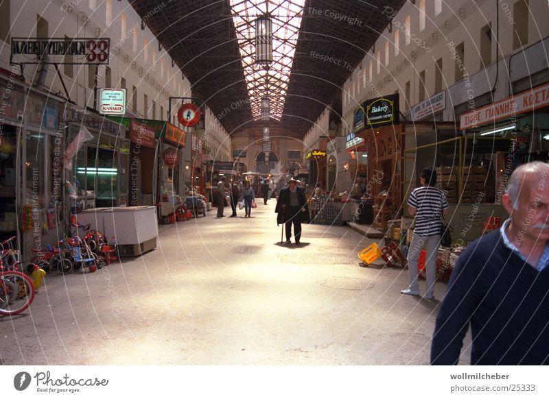 Markthalle in Chania Griechenland Kreta Stadt Handel Europa Gastronomie Mensch Architektur