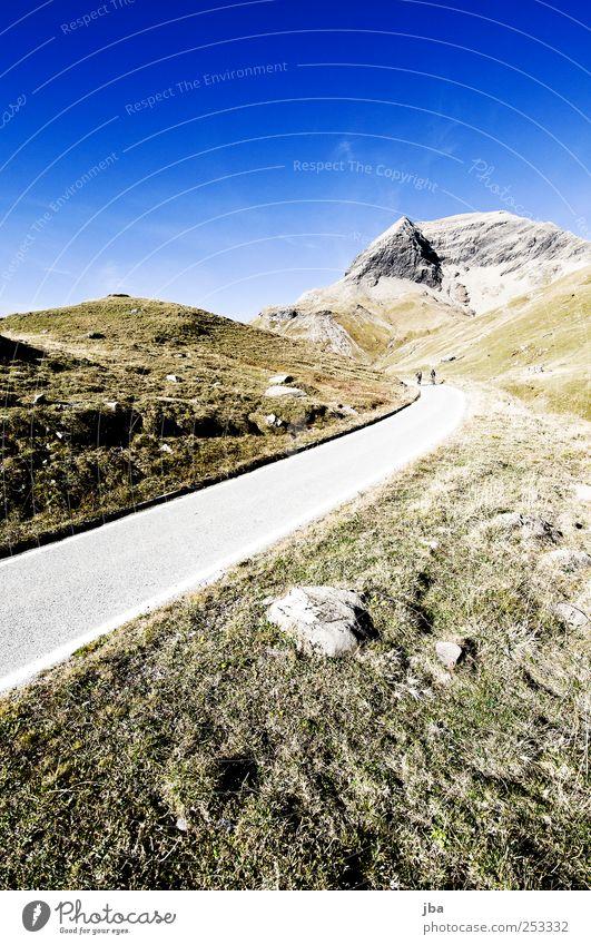 Passstrasse Natur Sommer Straße Landschaft Leben Wiese Herbst Berge u. Gebirge Freiheit Bewegung Gras Stein Felsen hoch Ausflug frei