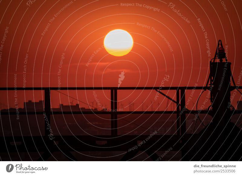Sonnenuntergang am Schöneberger Gasometer II Architektur Landschaft Himmel Horizont Sonnenaufgang Sonnenlicht Sommer Schönes Wetter Berlin Deutschland Europa