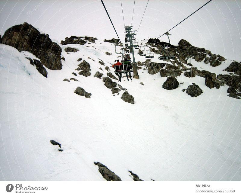 2811m Ferien & Urlaub & Reisen Winter Schnee Winterurlaub Berge u. Gebirge Mensch Umwelt Natur Landschaft Klima schlechtes Wetter Nebel Eis Frost Alpen