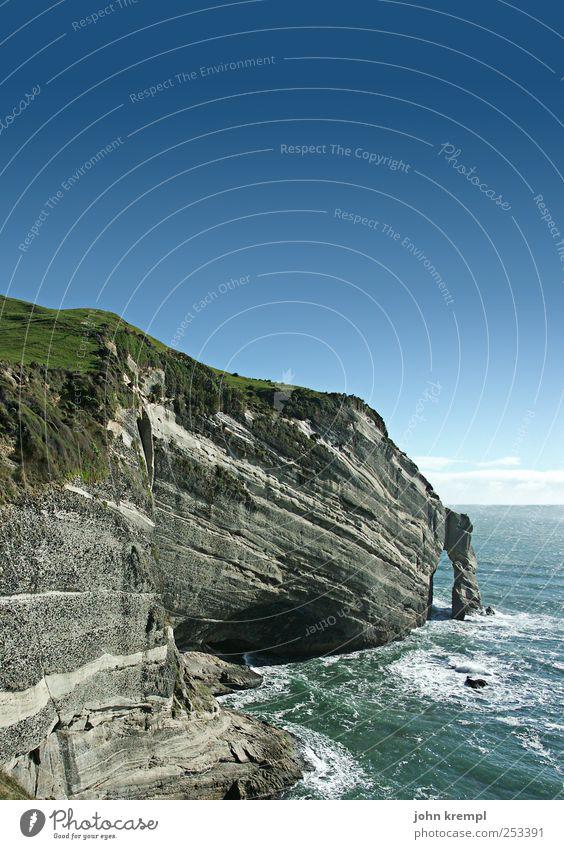 Auf Wiedersehen Umwelt Natur Landschaft Wasser Himmel Wellen Küste Klippe Felsbogen cape farewell cape farewell arch Neuseeland Australien + Ozeanien