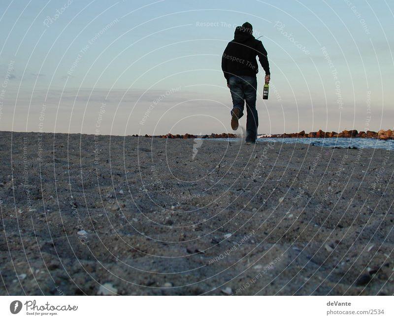 Lauf, Junge, lauf! Strand Dämmerung Europa laufen Abend