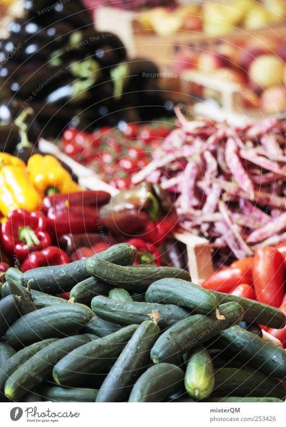 Qual der Wahl. Lebensmittel ästhetisch Frucht Gemüse Gemüsehändler Gemüseladen Obst- oder Gemüsestand Gesundheit Markt Marktplatz Marktstand Markttag frisch