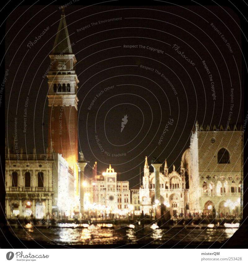 Once. Ferien & Urlaub & Reisen Kunst ästhetisch Romantik Italien Vergangenheit historisch Fernweh Sehenswürdigkeit Venedig altmodisch zeitlos Gondel (Boot) Städtereise Urlaubsstimmung Zeitreise
