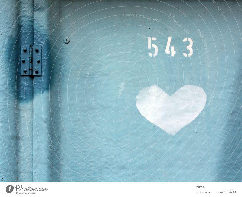 Ein Herz für Bauarbeiter Dorf Tür Kunststoff Zeichen Ziffern & Zahlen Schilder & Markierungen Liebe blau weiß Toilette Miettoilette Toilettenhäuschen Klo WC