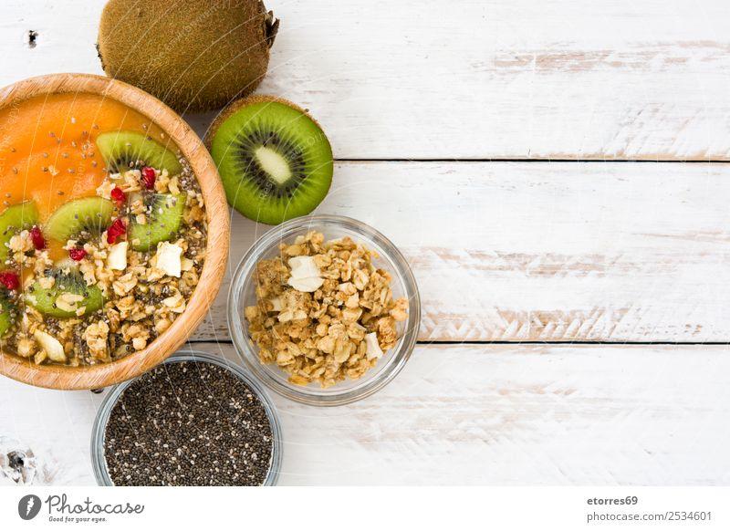 Gesunder Smoothie Lebensmittel Gesunde Ernährung Foodfotografie Joghurt Frucht Dessert Frühstück Bioprodukte Vegetarische Ernährung Schalen & Schüsseln frisch