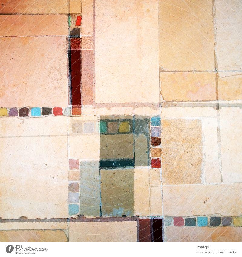 Mosaik Lifestyle Stil Design Linie außergewöhnlich eckig einzigartig chaotisch Doppelbelichtung Gedeckte Farben Nahaufnahme Experiment abstrakt Muster