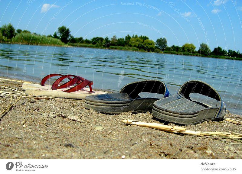 Strandpärchen Sandale Flipflops See Nahaufnahme