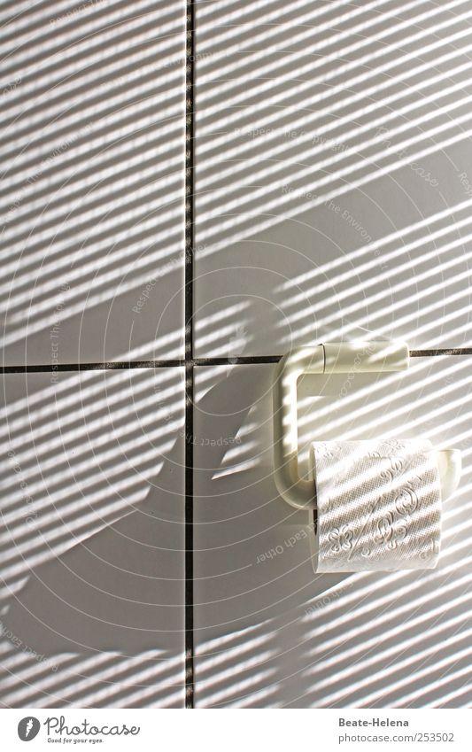 Streiflichter weiß Wand Mauer hell Linie Fröhlichkeit ästhetisch Lifestyle Streifen Wandel & Veränderung einzigartig außergewöhnlich Bad Vergänglichkeit rein Fliesen u. Kacheln