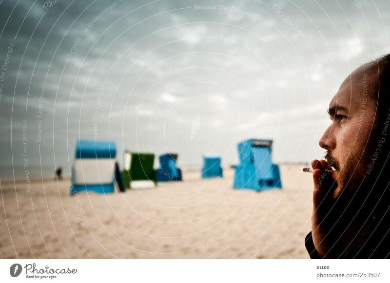 One-man-free Mensch Himmel Mann Jugendliche blau Hand Sommer Meer Strand Erwachsene Gesicht Freiheit Küste Kopf Sand Horizont