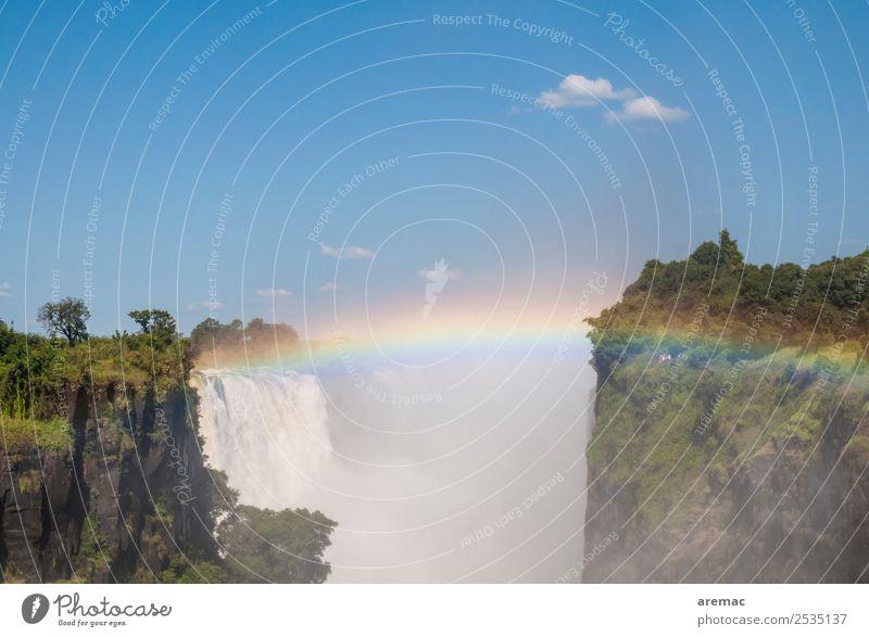 Victoria Falls Natur Ferien & Urlaub & Reisen Wasser Landschaft ruhig wandern Schönes Wetter Fluss Sehenswürdigkeit Sightseeing Afrika Expedition Wasserfall