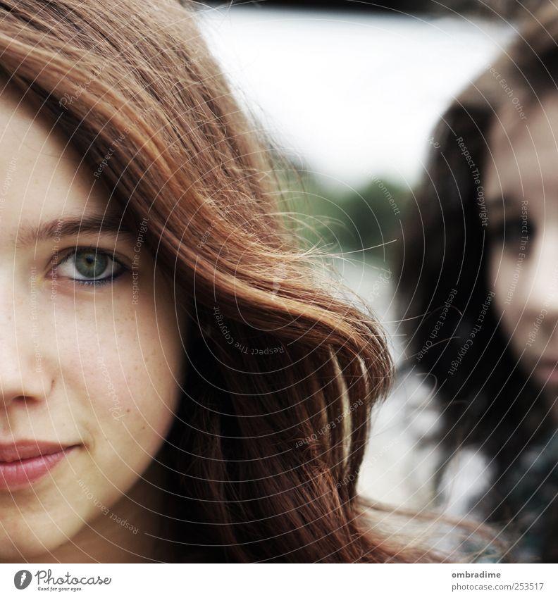 eyes like yours Frau Kind Jugendliche schön Erwachsene Gesicht Auge Junge Frau Haare & Frisuren Kopf 13-18 Jahre einzeln brünett langhaarig ernst Frauengesicht