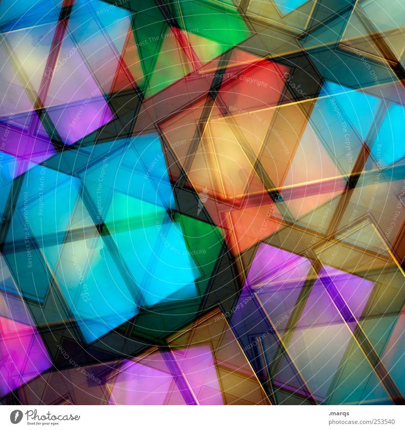 Palette Farbe Fenster Stil Linie Beleuchtung Design modern verrückt Perspektive Lifestyle Coolness einzigartig außergewöhnlich leuchten Doppelbelichtung