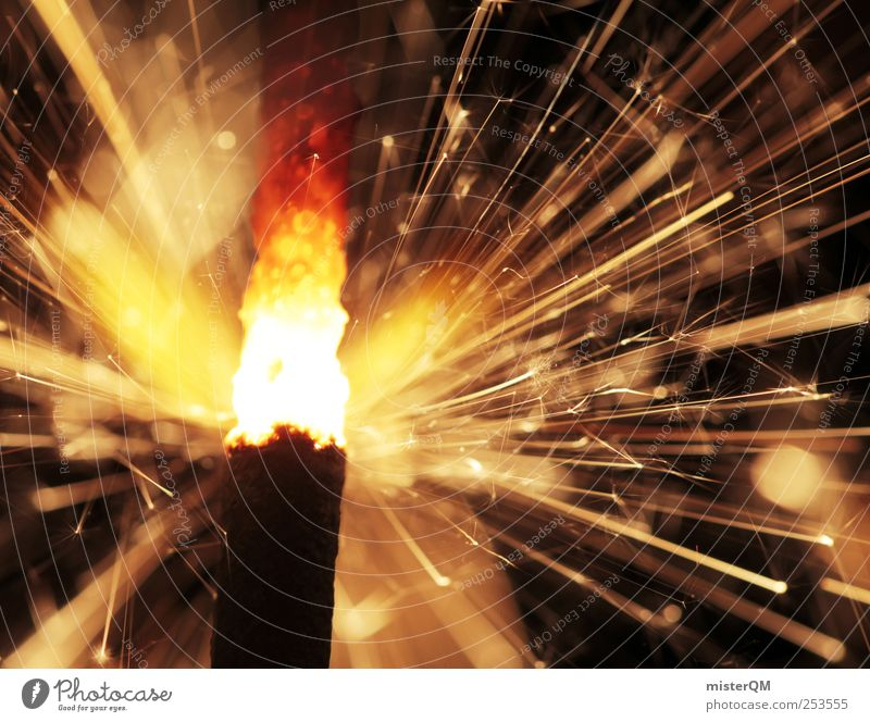 A Thousand Sparks. Lifestyle ästhetisch Silvester u. Neujahr Wunderkerze Funken heiß Wärme brennen Explosion zündend Zündschnur Partynacht Jubiläum Gratulation