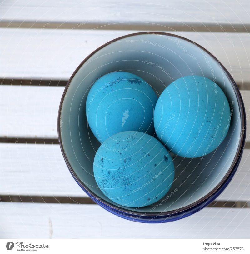 blaue euer weiß Farbe Holz Feste & Feiern Design ästhetisch Tisch Ostern Küche Gastronomie Maler Mensch